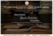 Intercollegiate Book Review Competition at KES Shroff College of Arts & Commerce