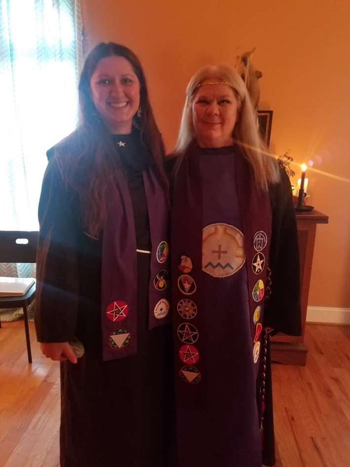 Rev. Emairelhd and Lady Stephanie - Second Degree Initiation 2018