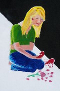 closeup of second painting for compet. abused women