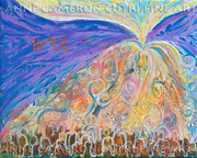 Prophetic Message Sketch 22 SANCTIFY Glory pouring into vessel on the mountain - Anne Cameron Cutri