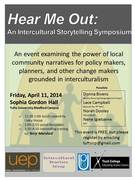 Hear Me Out - Intercultural Storytelling Symposium