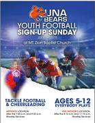 Una Bears Youth Football Sign-Up Sunday