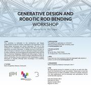 Generative Design and Robotic Rod Bending Workshop