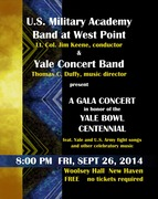 West Point Band and Yale Concert Band Gala Concert to Commemorate Yale Bowl Centennial