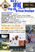 Pop Up Artisan Boutique @ Lyric Hall-