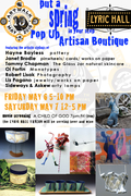 Pop Up Artisan Boutique @ Lyric Hall-