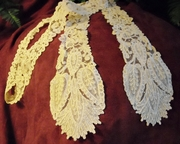 Mid-19C, Brussels Duchesse, a pair of joined lappets (1)