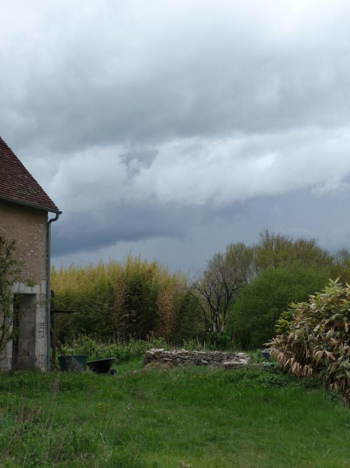 black clouds all round