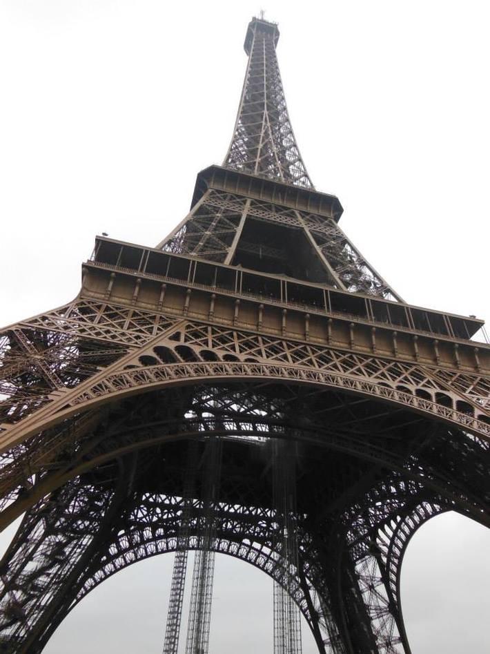 Eiffel Tower close up