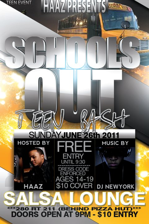 Schools Out Teen Bash