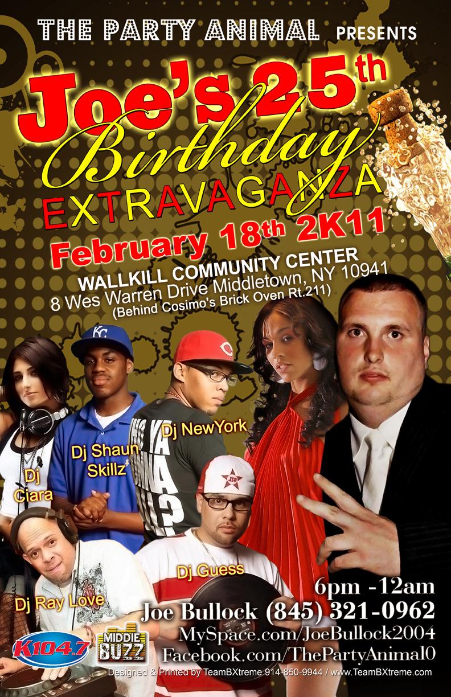 Joe's 25th B-Day Extravaganza (Poster)