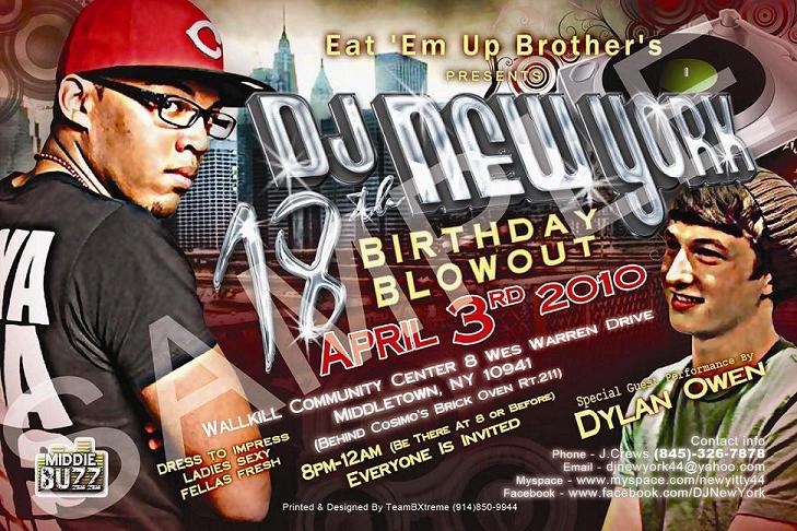 DJ NewYork's 18th Birthday Blowout (Front)