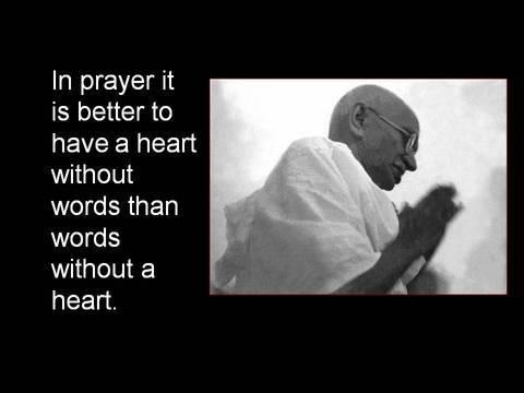 Gandhi on prayer
