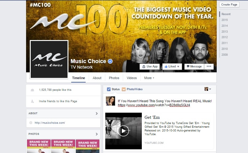 "Music Choice Channel 100 Featuring Young Gifted Single ""Get'Em"""