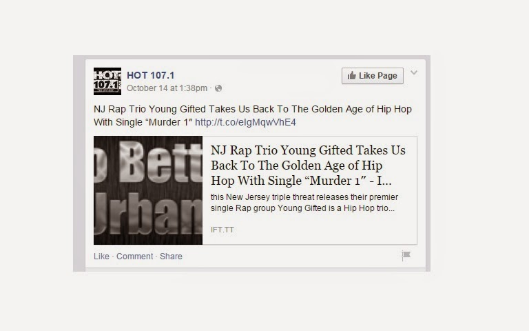 "Hot 107.1 FM_Thx 4 The Supporting Young Gifted Single ""Murda 1"""
