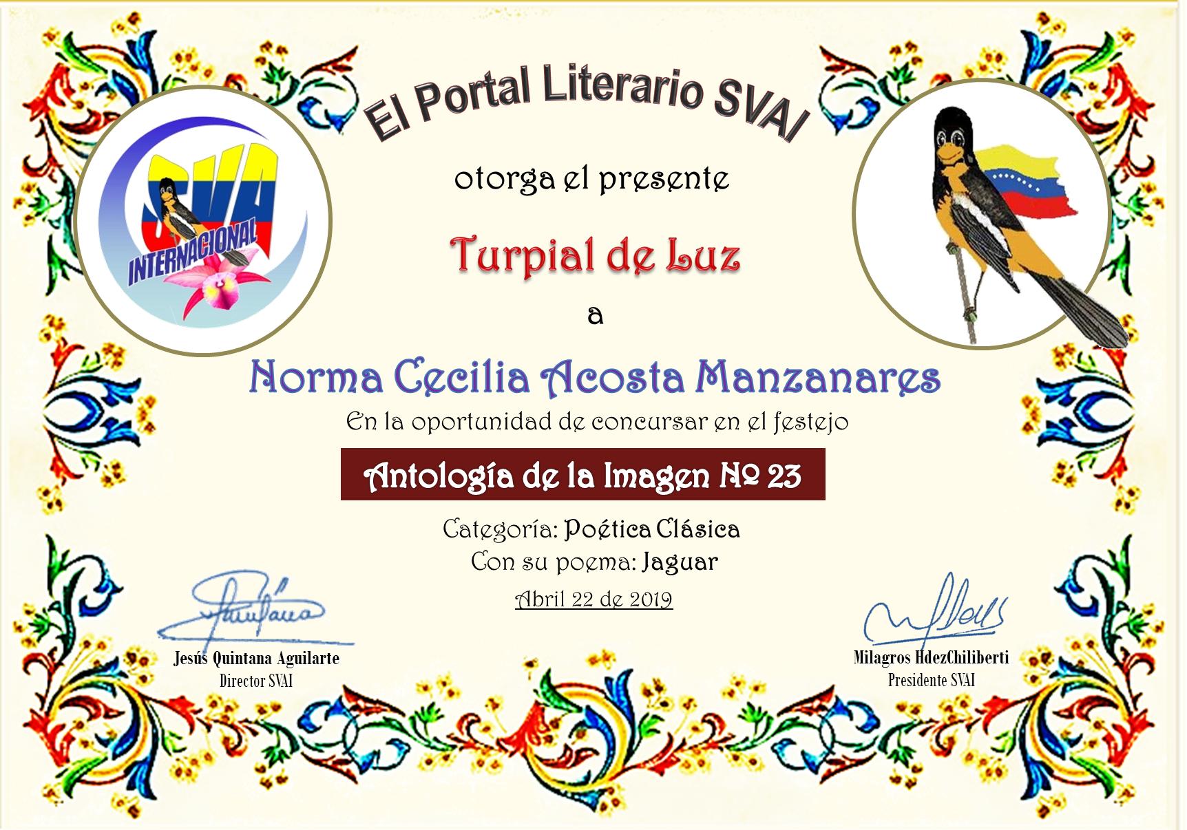 NORMA CECILIA ACOSTA MANZANARES