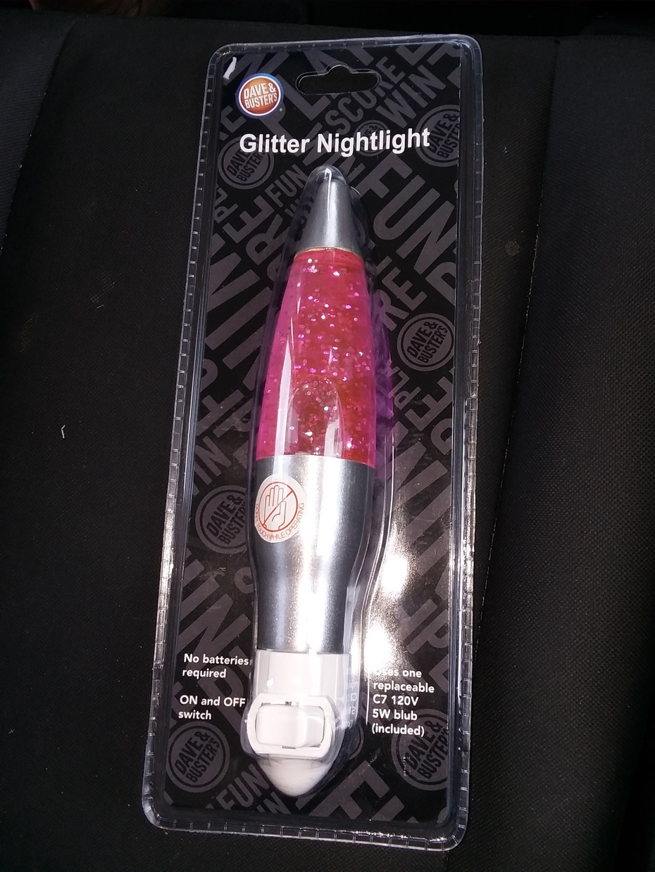 Glitter nightlight