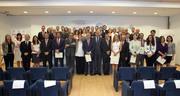 Representantes de las 50 empresas y organizaciones firmantes dle Pacto Mundial