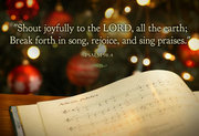 Shout joyfully to The LORD!