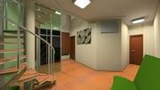Sala de Espera Térreo vista para consultório e lavabo