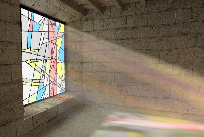 Stained Glass in a Hazy Room