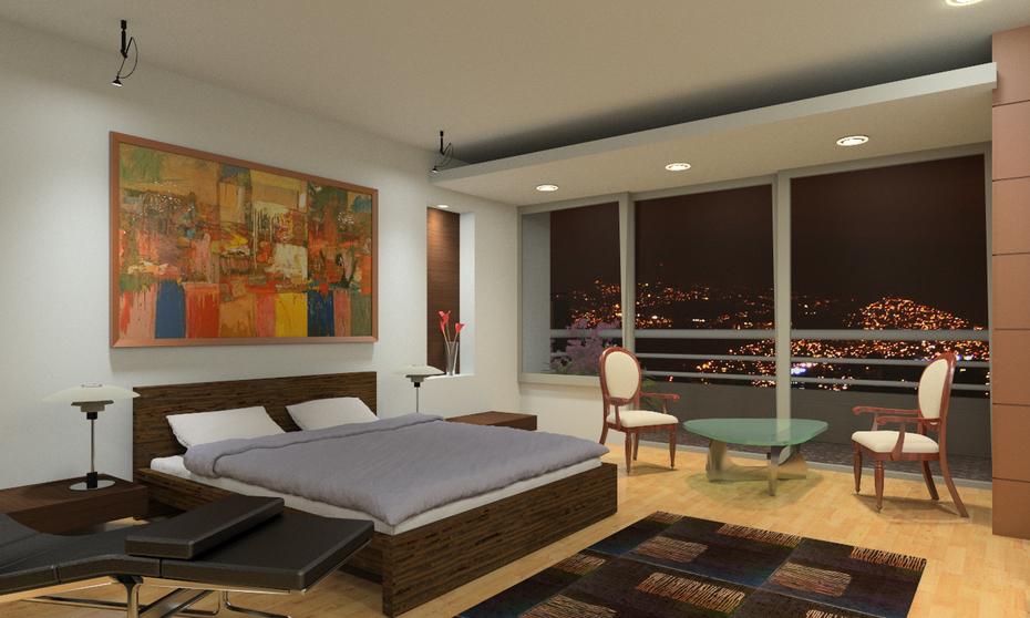 Remodelación apartamento en Caracas. Imagen nocturna