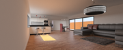 open space living/kitchen