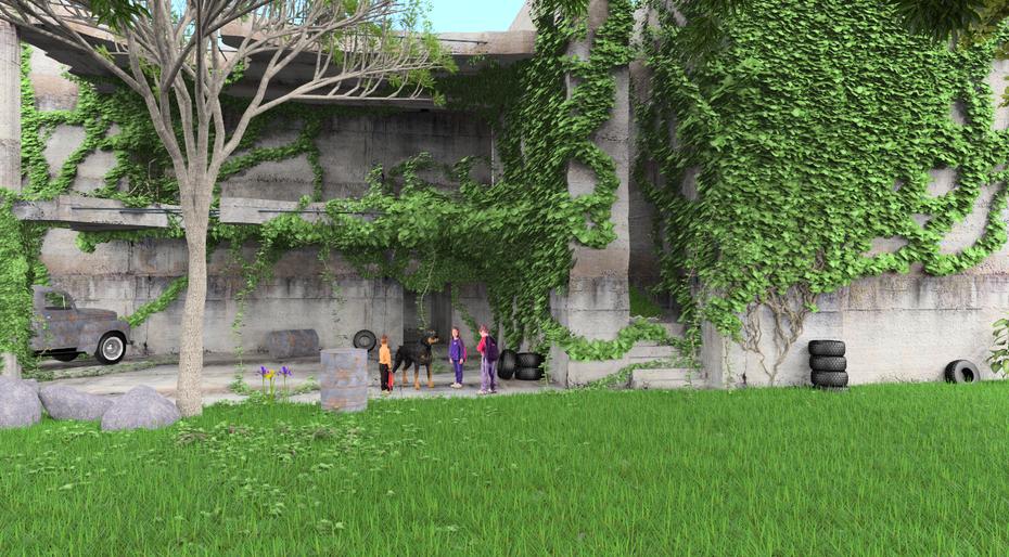Children in disused building