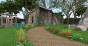 Old farm house-art image