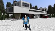 ski centre info-designed by mike makki