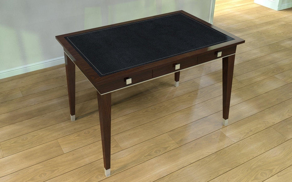 Dark brown oak desk