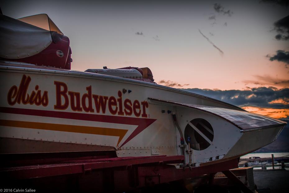 1967 Miss Budweiser sunset at Chelan