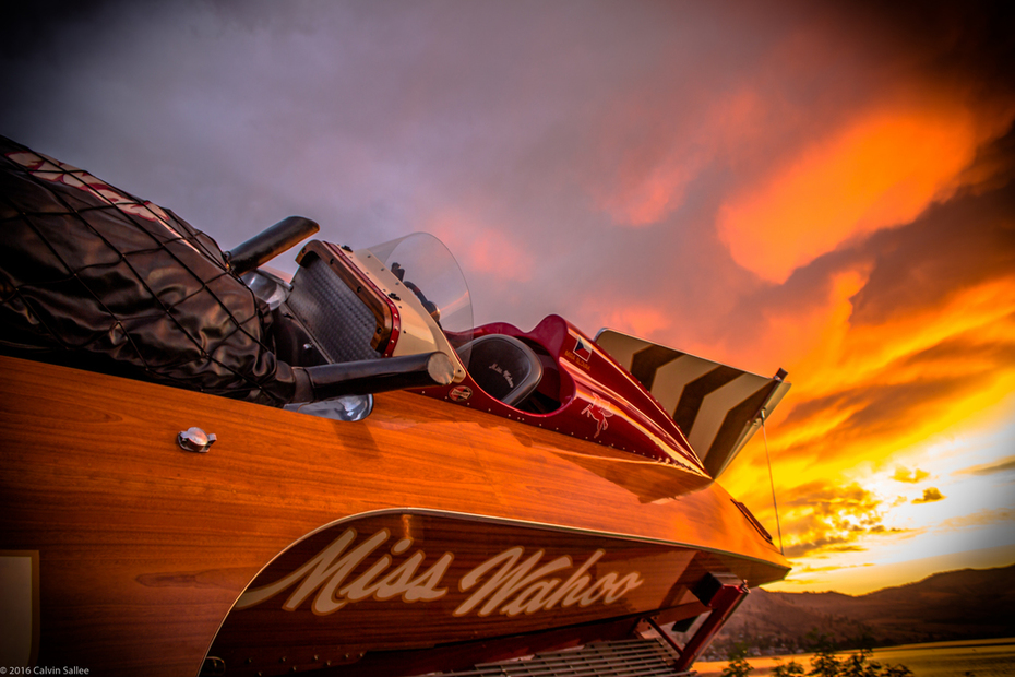 1957 Miss Wahoo under the Lake Chelan sunset (2016)