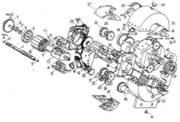 Gearturbine Isometric Patent Draw Hand Made exploded view