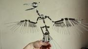 bird armature - wings spread