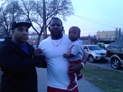 Kamal Imani with Fetty Wop's Label CEO DanSu (Supreme) and new Son