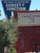 Sunset Junction and the Cheese Store of Silver Lake Sunset Blvd. and Sanborn Ave. Los Angeles