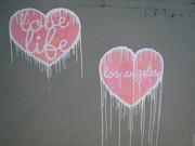 Love Life Street art -  Street Art at Sunset Junction Sunset Blvd. and Sanborn Ave. Silver Lake Los Angeles