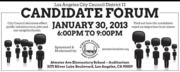 Candidate Forum Jan. 30 2013