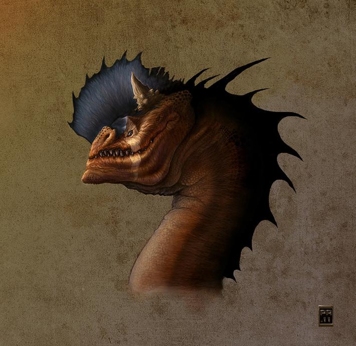 Drakhuvud 3