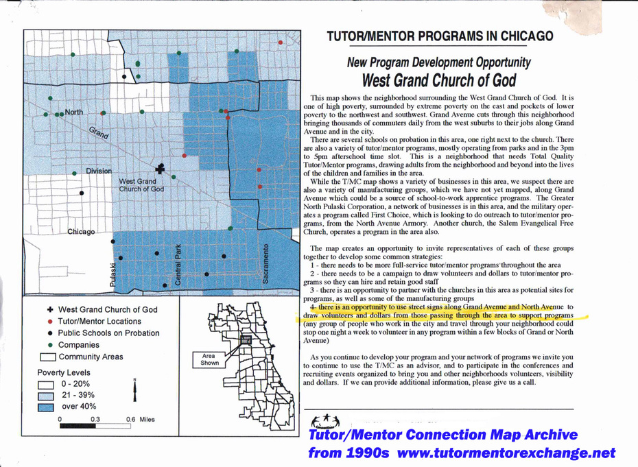 Map Analysis for West Grand Church -from 1990s