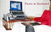 """""""Pierre at the Keyboard And Laptop"""""""