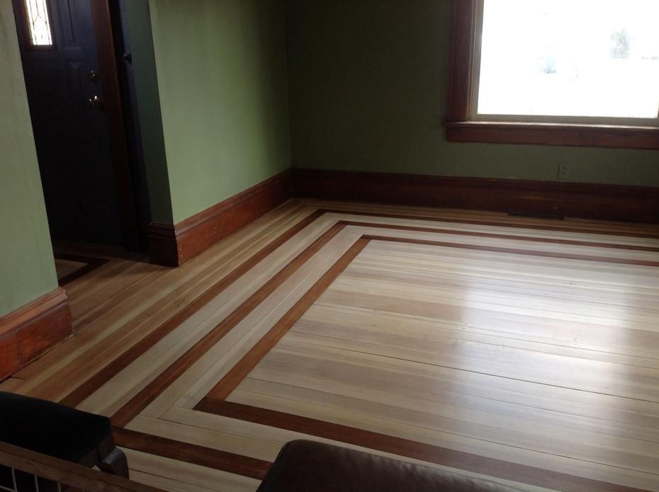 Finished front room floor...Doug fir