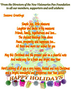 HAPPY HOLIDAYS from the NEW VISIONARIES PAN FOUNDATION