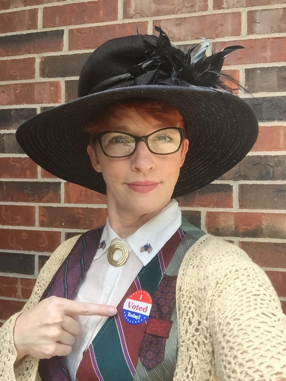 Suffragette to go voting