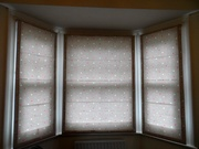 Hand made lined roman blinds