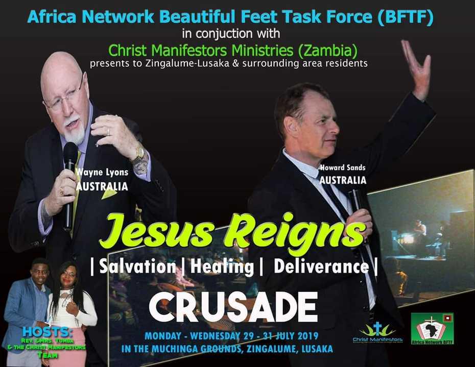 Jesus Reigns Outreach Crusade Lusaka