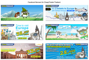 Artworks for CheapTickets Thailand.