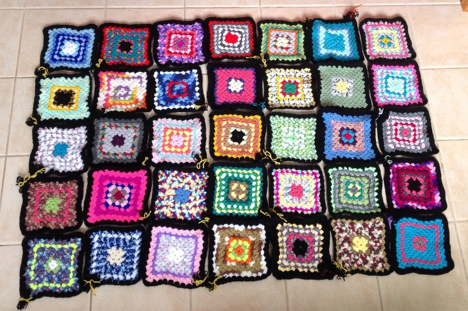 My First Granny Square Blanket....woohoo!