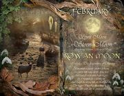 (e) February  Rowan Moon